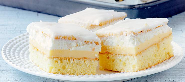 Cytrynowa kostka – najlepsze weekendowe ciasto!