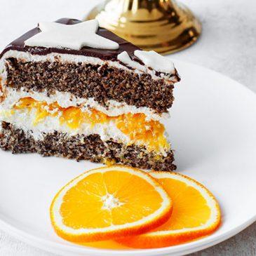 Najlepszy przepis na tort makowy z pomarańczami!